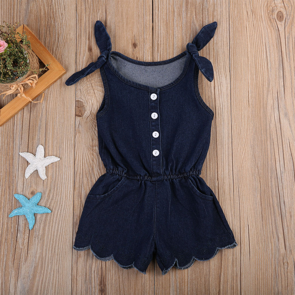 4f2b8caa7ea0 2018 Brand New Sexy Newborn Toddler Infant Kids Baby Girls Romper Jumpsuit  Outfits Denim Set Straped Sleeveless Sunsuit Playsuit