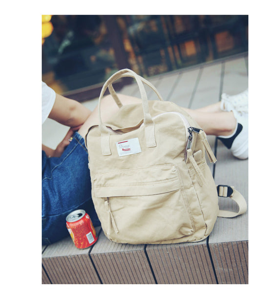 2018 Canvas Casual School Bags For Teenage Girls Student Kanken Small Backpack Schoolbag Women