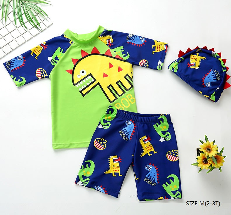 24e188644414f 2018 Children Swimming Wear Boys Swimsuit 3 Pieces Suits Cartoon With Swim  Cap Kids Swimwear Bathing Suit Beach Wear – Beal | Daily Deals For Moms