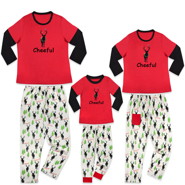 2018 Christmas Family matching clothes Deer Printed Mom dad Kids matching outfits family