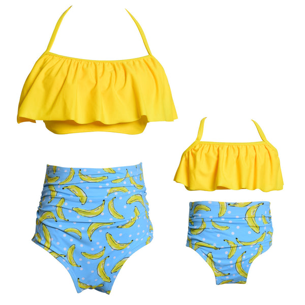 2018 Family Matching Swimwear Sets 9 Style Floral Mother And Daughter Swimming Suits Sling Family Holiday Swimming Sets