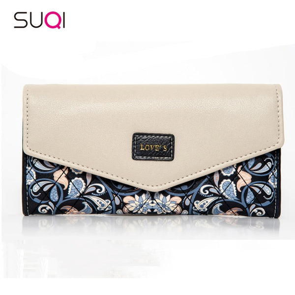 2018 Fashion Women Wallet Embroidered Flowers Purse Female Cell Phone Wallet Pocket Pouch