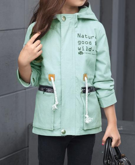 a238ce773c13 2018 Fashionable Kids Girls Cotton Hooded Spring Autumn Wear Coat ...