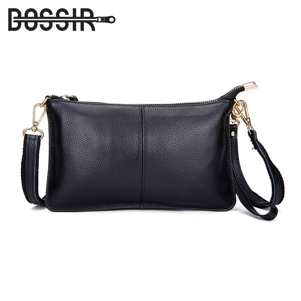 2018 Genuine Leather Women Bag Party Clutch Evening Bags Fashion Ladies Shoulder Crossbody