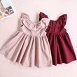 2018 Girl Dress Kids Clothes 2018 Brand Toddler Infant Kids Baby Girl Ruffled Dress Clothes Backless Solid Casual Dress for 1-5T
