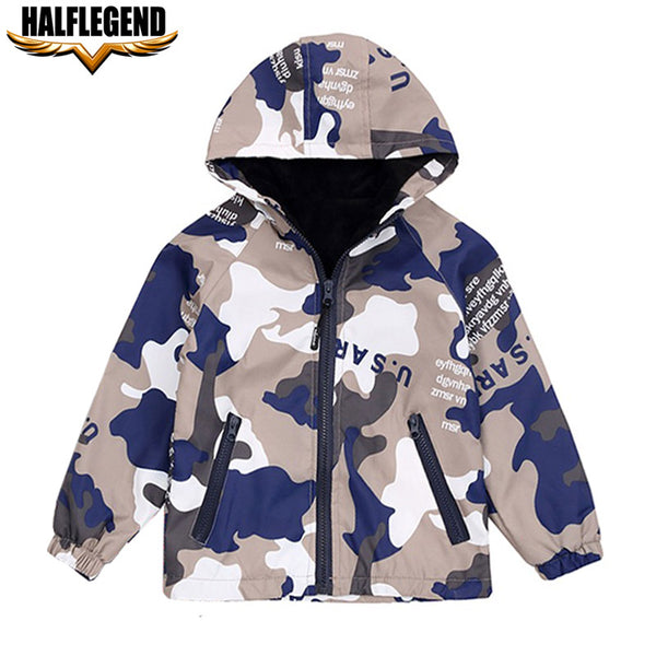 2018 Little Boys Jacket Spring New Children Camouflage Hooded Outwear Military Windbreaker Kids Army Clothing Jackets for Boys