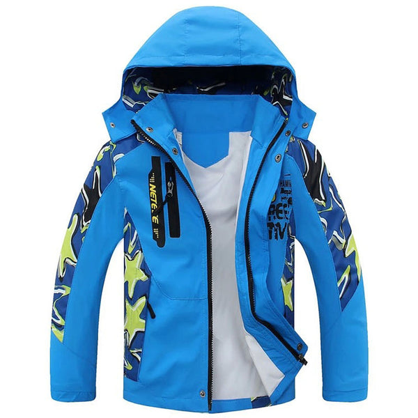 2018 New Children Boys Spring Casual Sports Jacket Windproof Jacket Double For 4-13 Year Old Boy Coats Kid Clothes