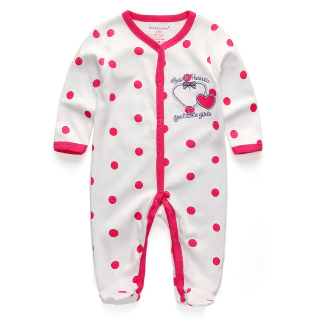 53b94e2f1 2018 New Children pajamas baby rompers newborn baby clothes long ...