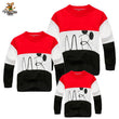2018 New Family Look Cartoon T Shirts 2 Colors Spring Autumn Family Matching Clothes Father & Mother & Kids Letter Outfits