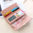 2018 New Long  Fashion Women Wallet PU Leather Women's Purse Best Phone Wallet Female Case
