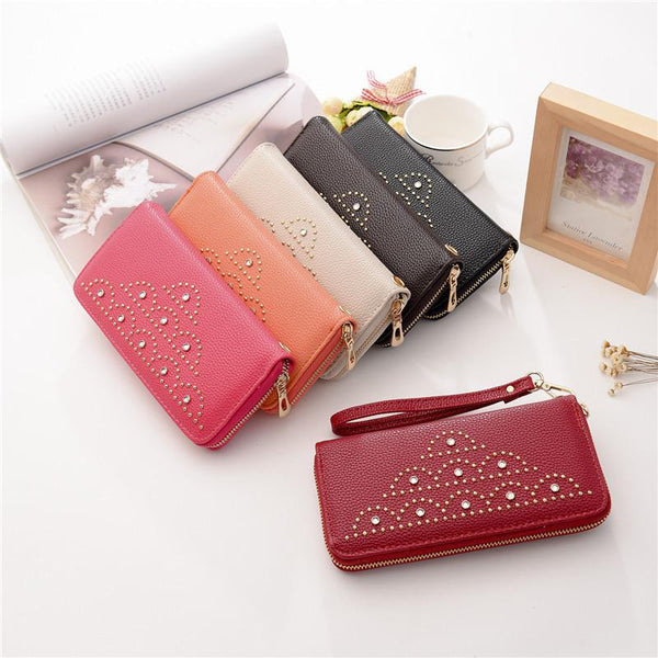2018 New Purse Female Fashion Women Wallet Pocket Zipper Wallet Pouch Case Phone Pocket