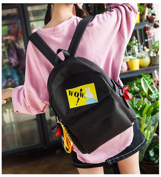 2018 New Travel Women Backpack Leisure Adolescent Girl Backpack Female Bag Japan Ring Style Cute