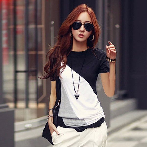 2018 New fashion t shirt women cotton short sleeve t shirt women o neck high quality t-shirt women summer 2018 basic tee top