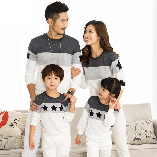 2018 Spring Family Clothing T-shirts Couples Clothing Dad Mom Kids Long sleeve Sweatshirt t-shirt family matching clothes 2-10 y