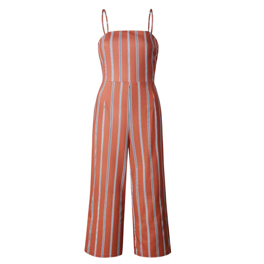 05b9a35d75e 2018 Summer Women Striped Backless Jumpsuit Romper Plus Size Sexy Bow  Sleeveless Clubwear Playsuit Lady Bodycon Party Bodysuits