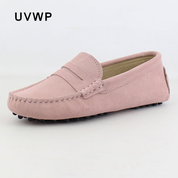 2018 Top Fashion Women's Flat Shoes Genuine Leather Woman Shoes Flats Casual Loafers Soft Slip