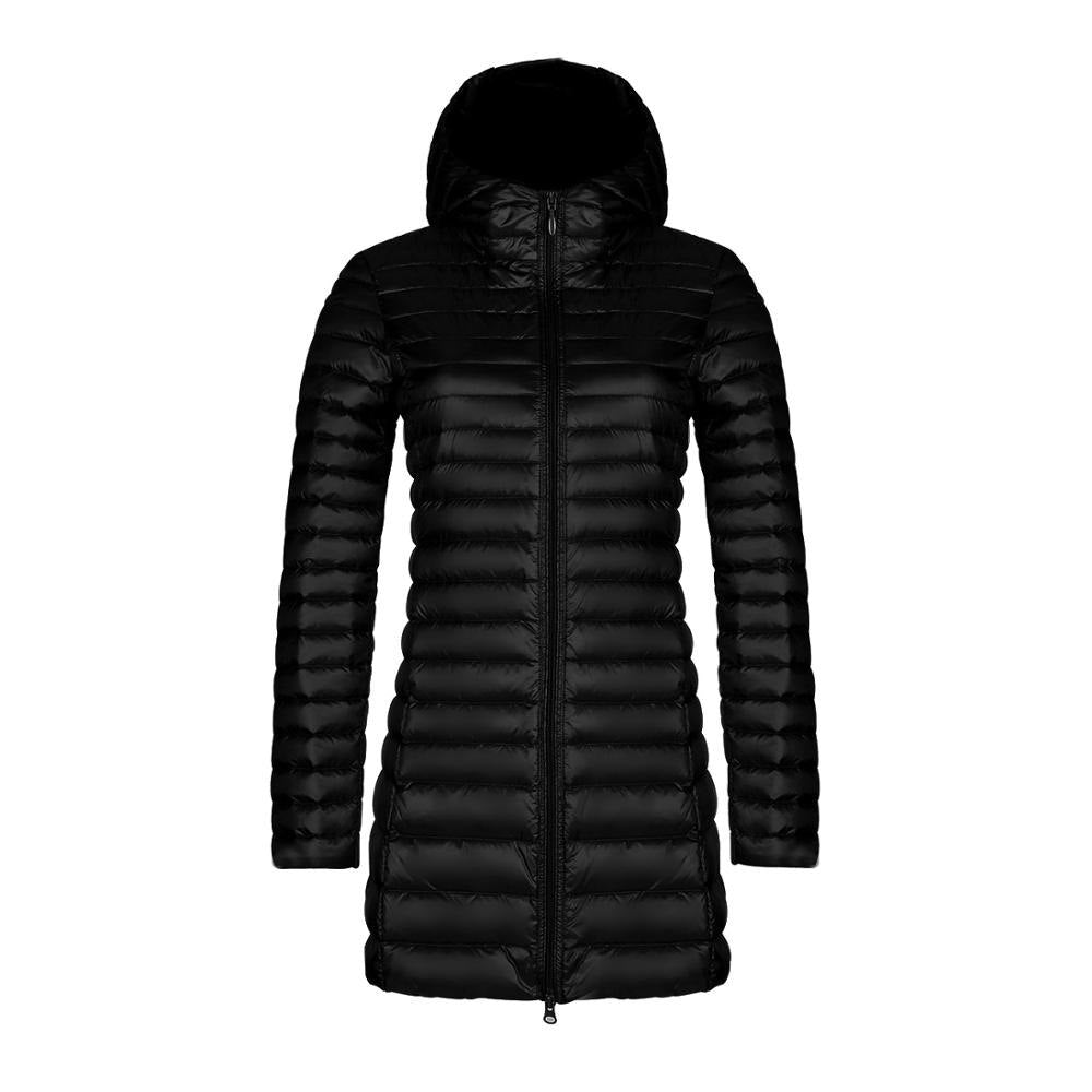 89990e5d8e6 2018 Women 90% white duck down jacket hooded winter warm duck down ...