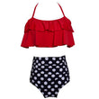 2018 family Matching Outfits Mother Daughter Swimwear Mommy Girl Matching Flower Swimsuit Family Bikini BeachWear Suit Girl Mom