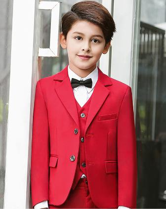 707e85968844d 2018 high quality blazers wedding suits for boys formal black/ blue /red  children's costume