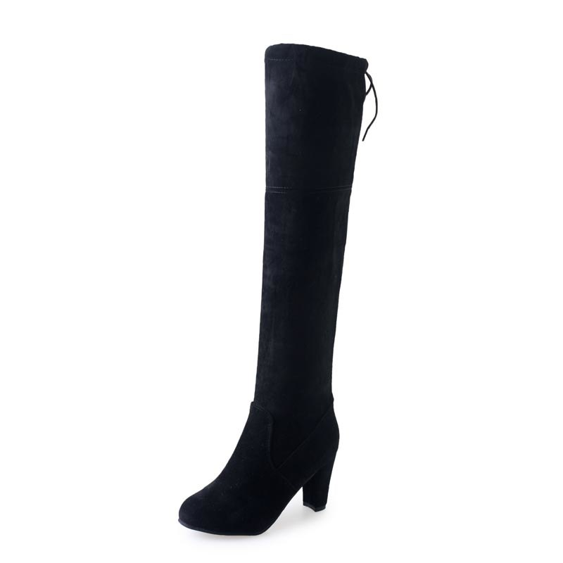 2018 hot sale slim boots women Thigh High Boots Sexy Over The Knee ... c01ec68bf2