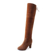 2018 hot sale slim boots women Thigh High Boots Sexy Over The Knee women shoes Fashion Winter Snow