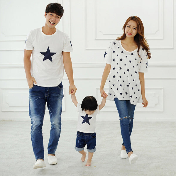 2018 matching family clothes Children short sleeved T-shirt summer new family and couples tide t-shirts Dropshipping