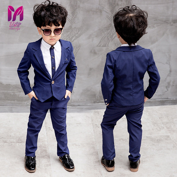 2018 miaoyi New Children Suit Boys Suits Kids Blazer Boys Formal Suit For Wedding Boys Clothes