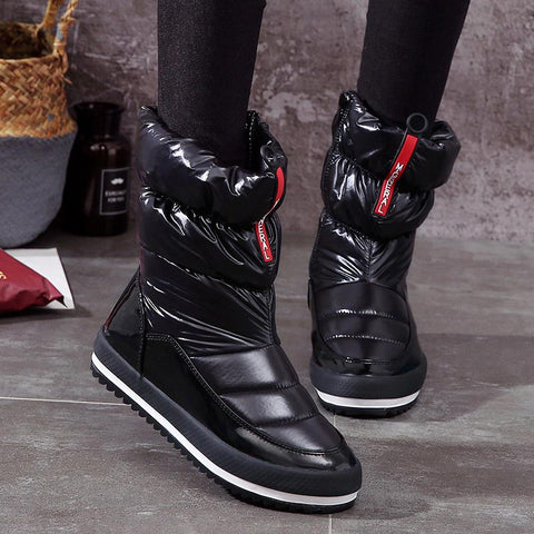 2018 new arrivals keep velvetwarm women snow boots fashion waterproof winter boots women shoes