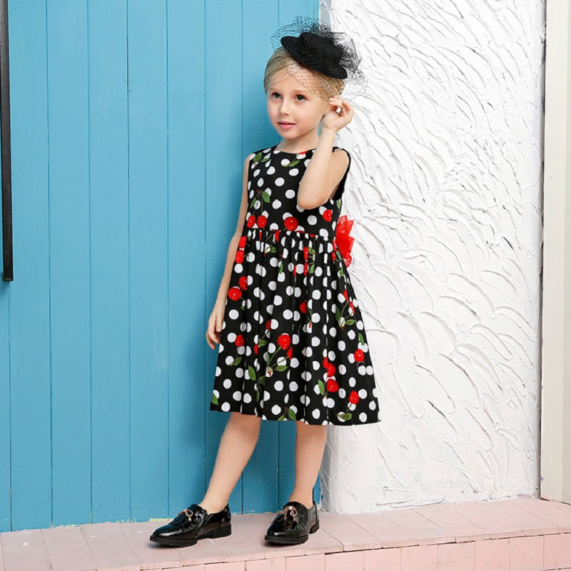 2018 summer baby girls cute princess dresses children cotton polka dot –  Beal  ec1d9758a