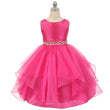 2018 summer big girls formal princess dresses children party wedding crystal bow white red green kids chiffon evening gown FD182