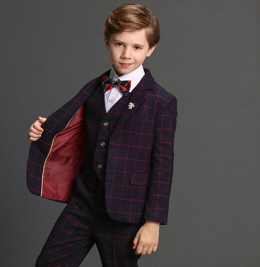 best place for classic styles top-rated quality 2018 summer boys plaid wedding suit england style gentle boys formal suit  for children prom