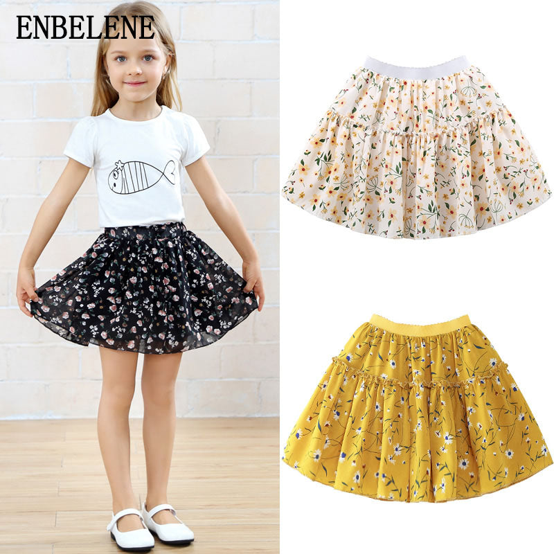 e37e9521a01f 2018 summer children short mini Floral skirts for baby girls yellow co –  Beal | Daily Deals For Moms