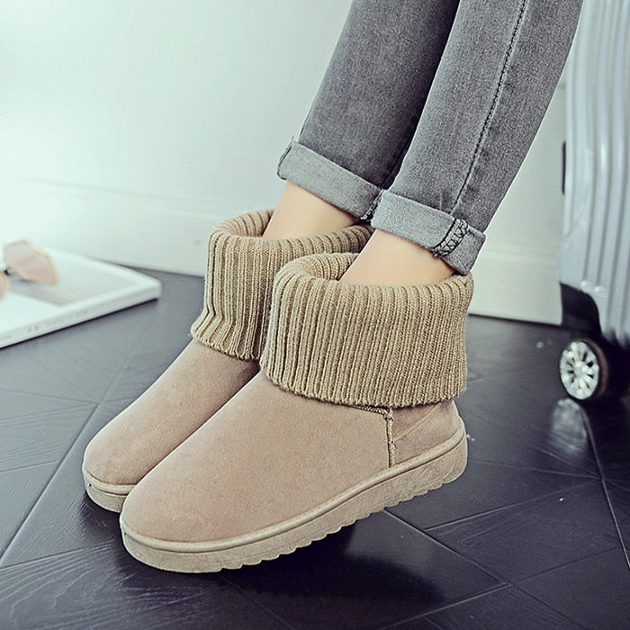 greatvarieties united states offer 2018 winter high snow boots women's wild warm comfortable cotton boots  women's casual
