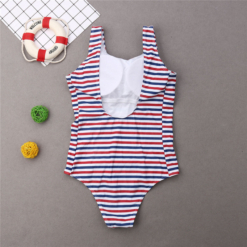 83443f7fb9d 2019 Family matching swimsuits Striped One piece Monokinis Mom dad girl boy  bandage 2019 Beach Fancy summer swimming shorts New – Beal | Daily Deals  For ...