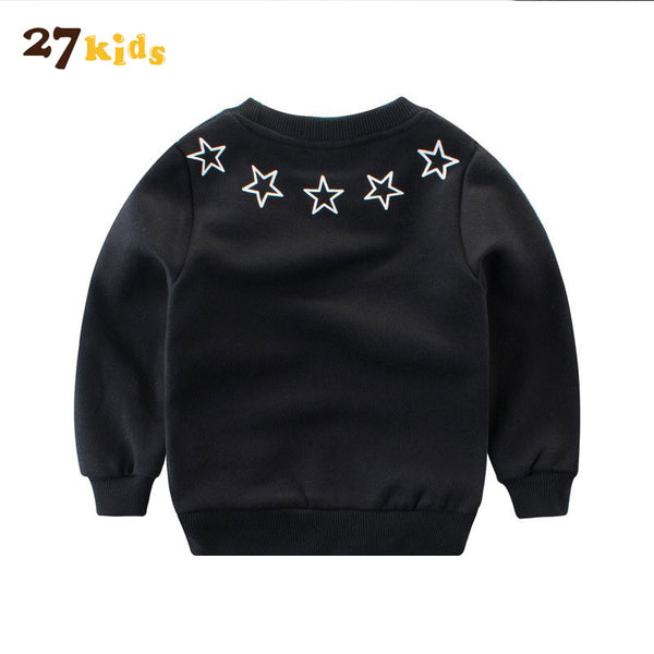 27Kids Baby Boys Girls Hoodies Clothes Children New Arrival Winter Thick Sweatshirts Toddler