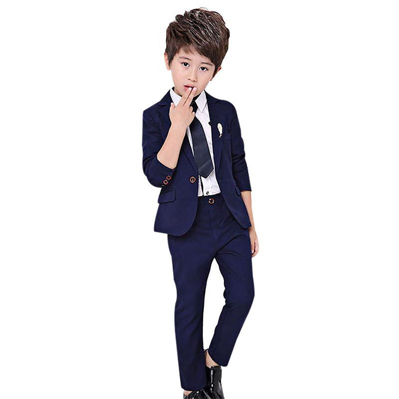 47aabd359 2PCS Boy Formal Costume Fashion Kids Wedding Suit Blazer Pants Sets School  Prom Party Suits Baby Clothes enfant garcon mariage – Beal | Daily Deals  For Moms