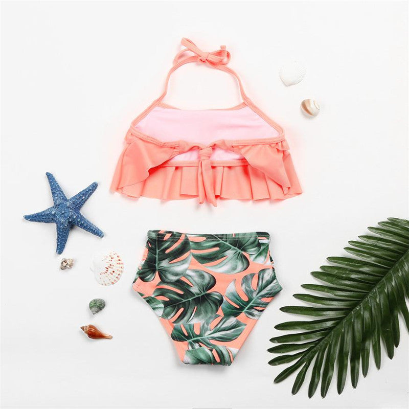 83c85c10ea3f8 2Pcs Toddler Baby Girls Ruffles Swimwear Bathing Bikini Outfits ...