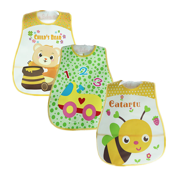 3 Pcs/lot Mother Nest Baby Bibs Waterproof Babador Baberos Cartoon Style Baby Girls Boys Bibs & Burp Cloths