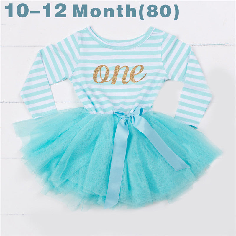 3 Years Winter Baby Girls Newborn Dress For Christening Infant