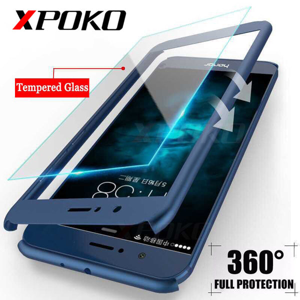 360 Degree Protection Full Cover Phone Case For Huawei P10 Lite P9 Plus Mate 10 Shockproof Cover For Honor 9 Lite Case Glass