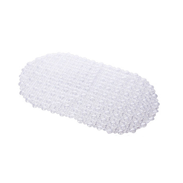 37x67cm PVC Waterproof Drops Oval Anti-slip Bathroom Shower Mat Foot Massage Safety Floor Rug