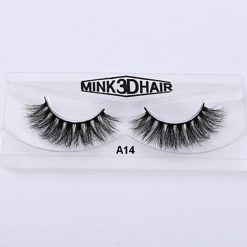 3d Mink Eyelash Lilly Real Mink Handmade Crossing Lashes Individual
