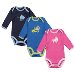 3pcs Baby Rompers Spring Baby Boy Clothes Autumn Newborn Baby