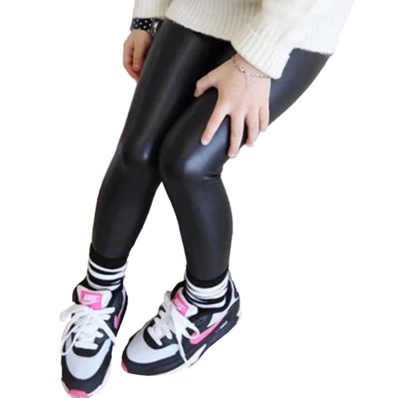 3f143bb25c70f 4-12Year Children Clothing Kids Leather Pants Girls Leggings Baby ...