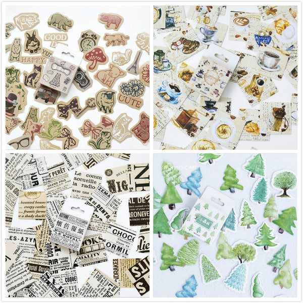 45 pcs DIY kawaii Stickers Animals Memo Pads Stationery stickers Planner Journal Note Diary Paper Scrapbooking Albums PhotoTag