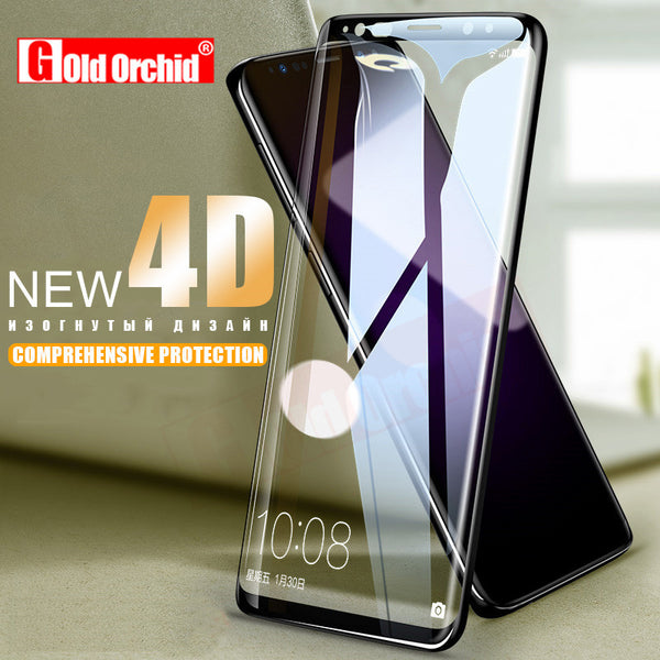 4D Full Cover Tempered Glass For Samsung Galaxy S9 S8 Plus Note 8 Screen Protector Film For Samsung S8 S9 Plus Note 8 Glass