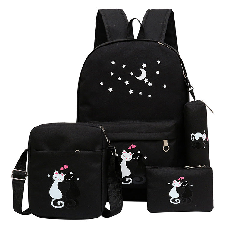 980d13d2d5 4Pcs set women backpack schoolbag korean rucksack cut school bags ...