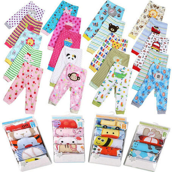 $5Coupon off 5PCS/PackAge 3-24M Baby Pants Trousers Children Cotton Pants Cartoon Boy Girl Infant