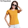 6 Colors Fashion Slim Solid Plus Size T shirt Summer Women O Neck Short Sleeve Cotton Tshirt Casual Khaki Colors Tops Tees CS375
