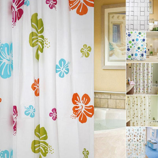 6 styles Starfish Waterproof Bathroom Shower Curtain 180x200cm